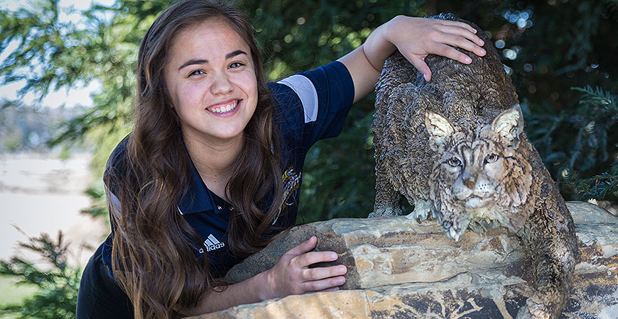 Student-athlete and leader Abbie-Leigh Meneses is preparing to graduate in May with a bachelor's degree in biological sciences with an emphasis human biology and a minor in anthropology.